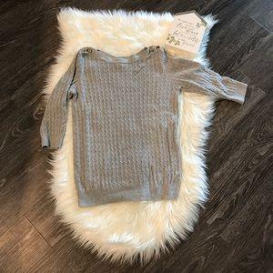 Karen Scott Ribbed Button Detail Top/Sweater
